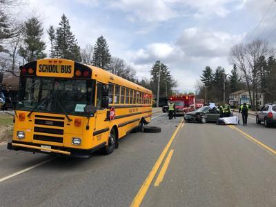 Hudson bus-car crash