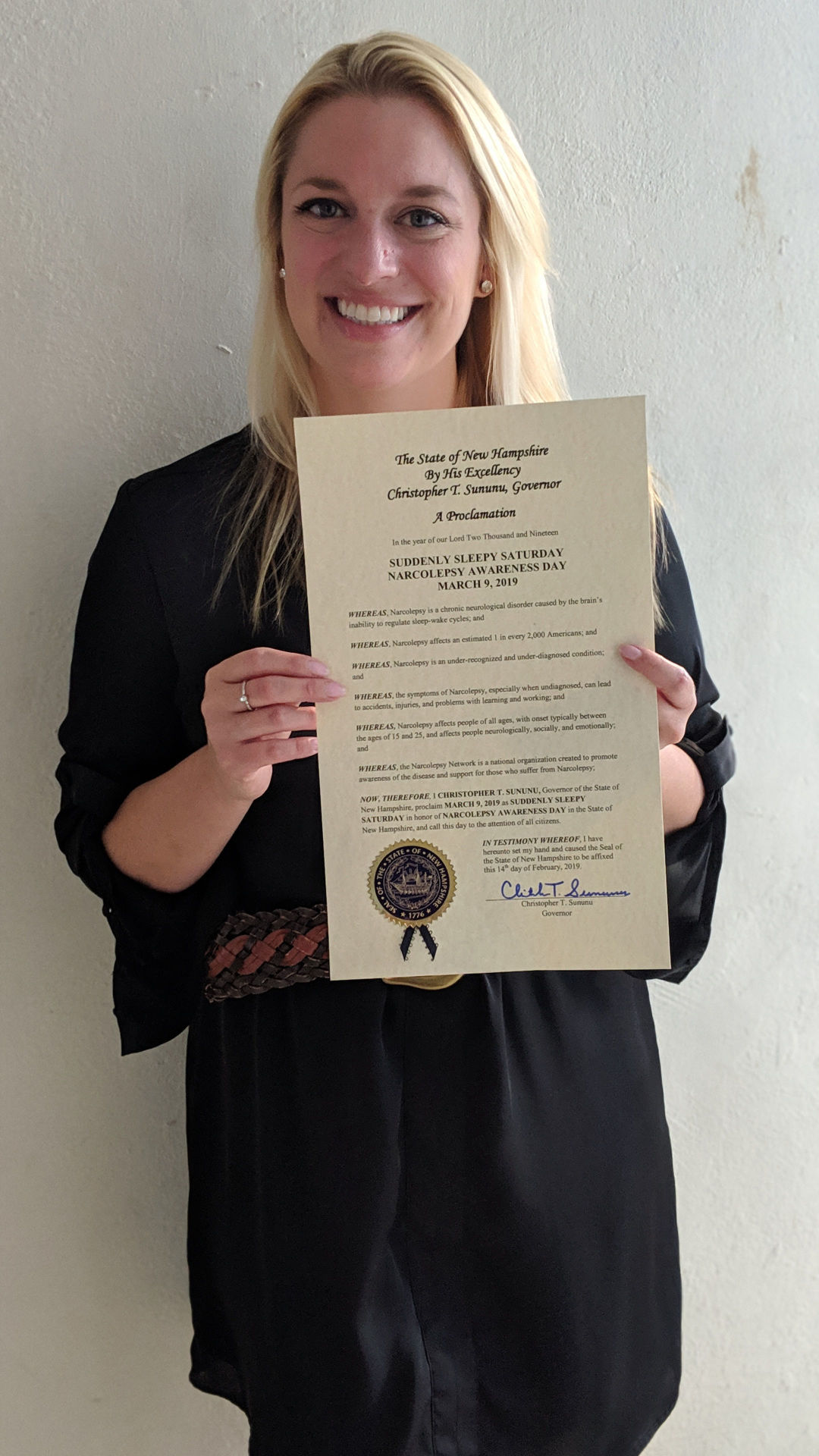 Kristen Crawford with proclamation
