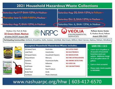 Nashua Regional Planning Commission household hazardous waste collection