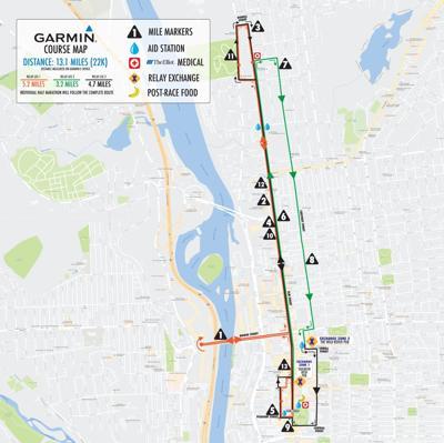 Shamrock Half Marathon route