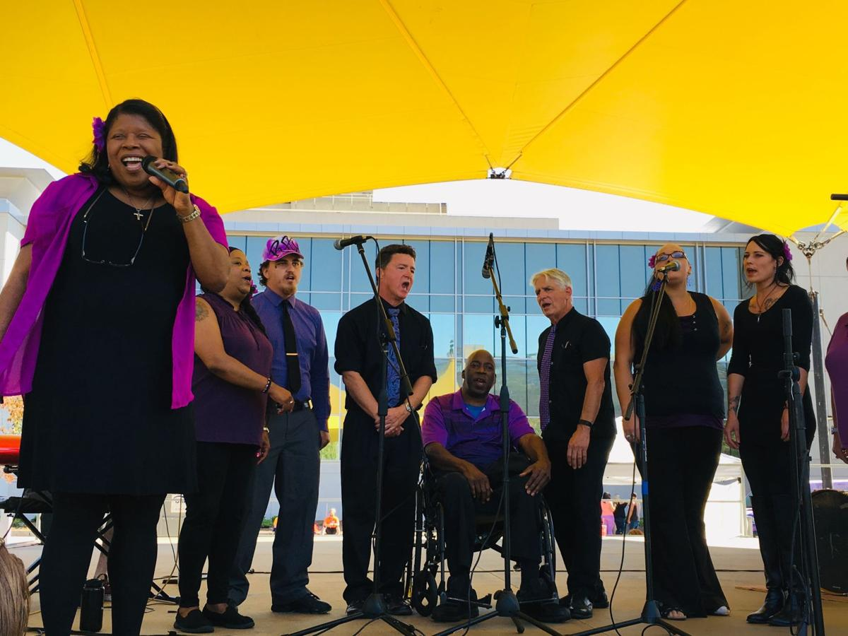 Hope Ensemble perform at the Rally for Recovery