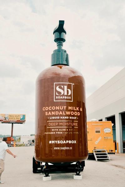 World's largest soap bottle