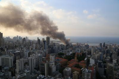 Fire breaks out at Beirut's port area
