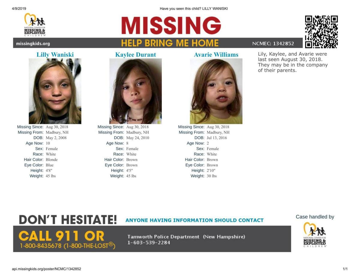 Missing girls poster - Waniski, Durant, Williams