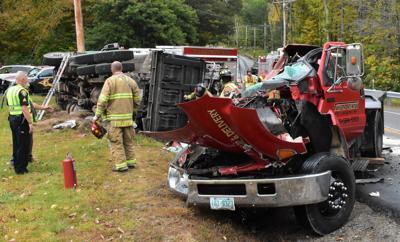 Truck crash in Moultonborough