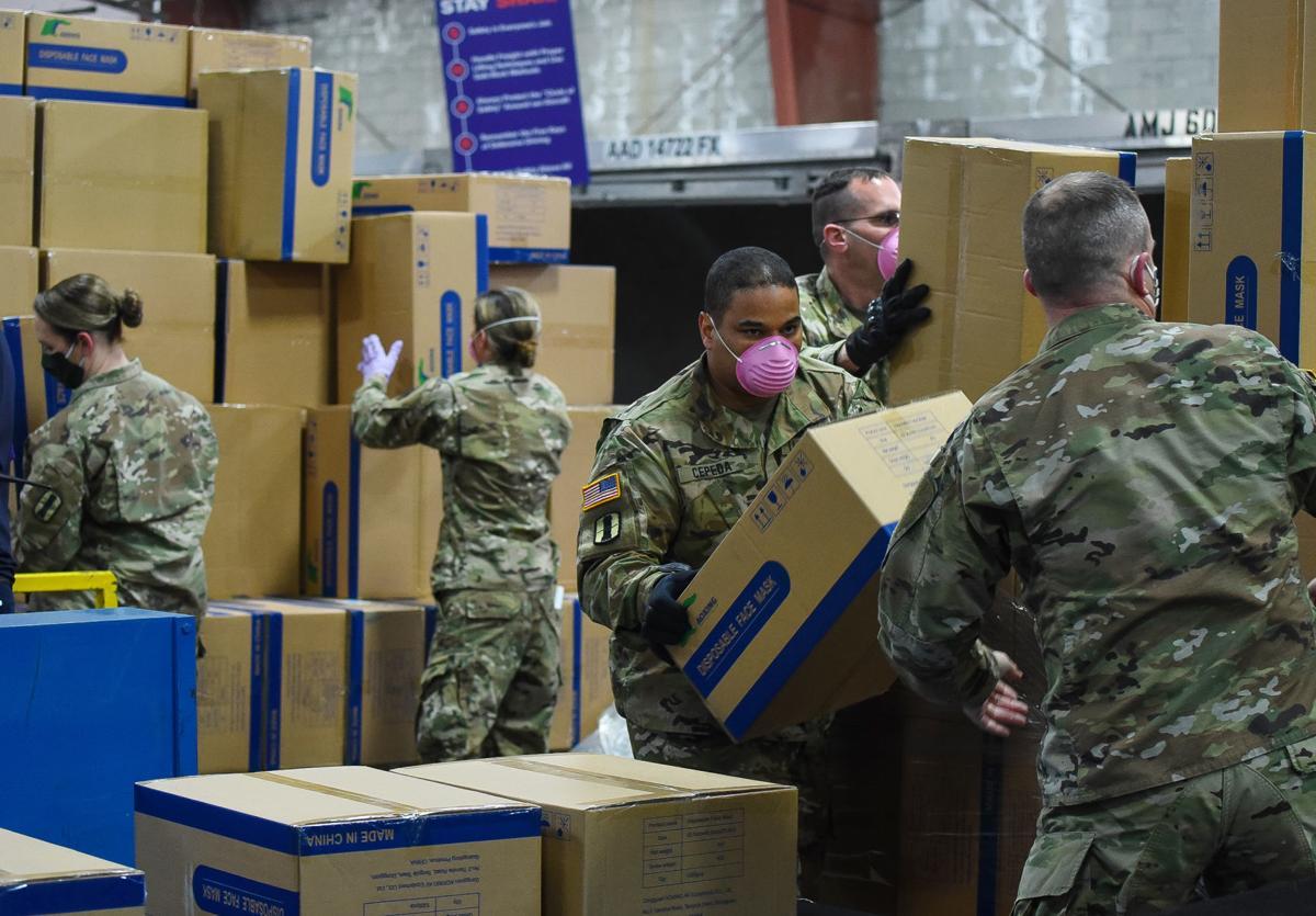 National Guard unloads supplies
