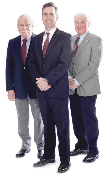 Brendan Finn with Roger Sevigny, left, and Jim Adams, right