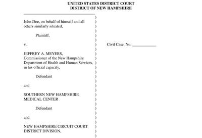 Aclu Nh Sues State On Behalf Of Mental Health Patients Held Without