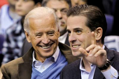 U.S. Vice President Biden and his son Hunter Biden