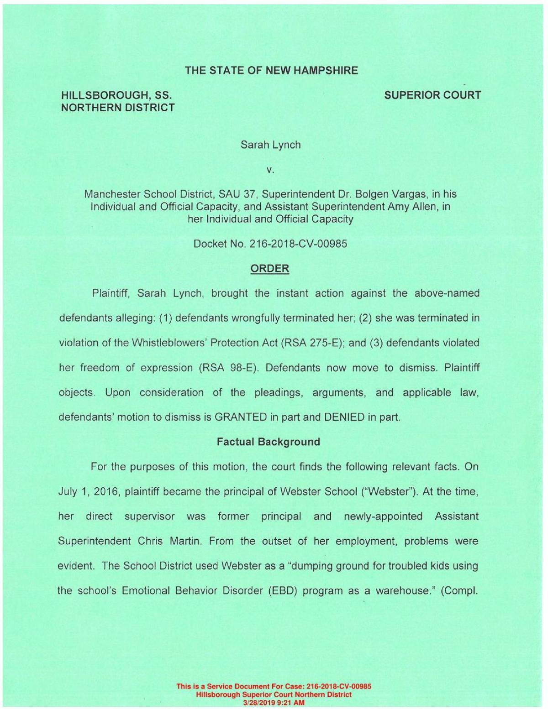 Lynch Court Order
