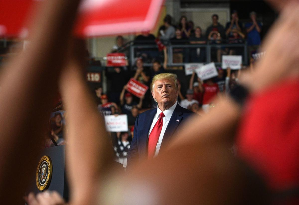 Trump hosts rally at SNHU Arena