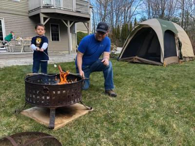 Virtual camping with the Cub Scouts