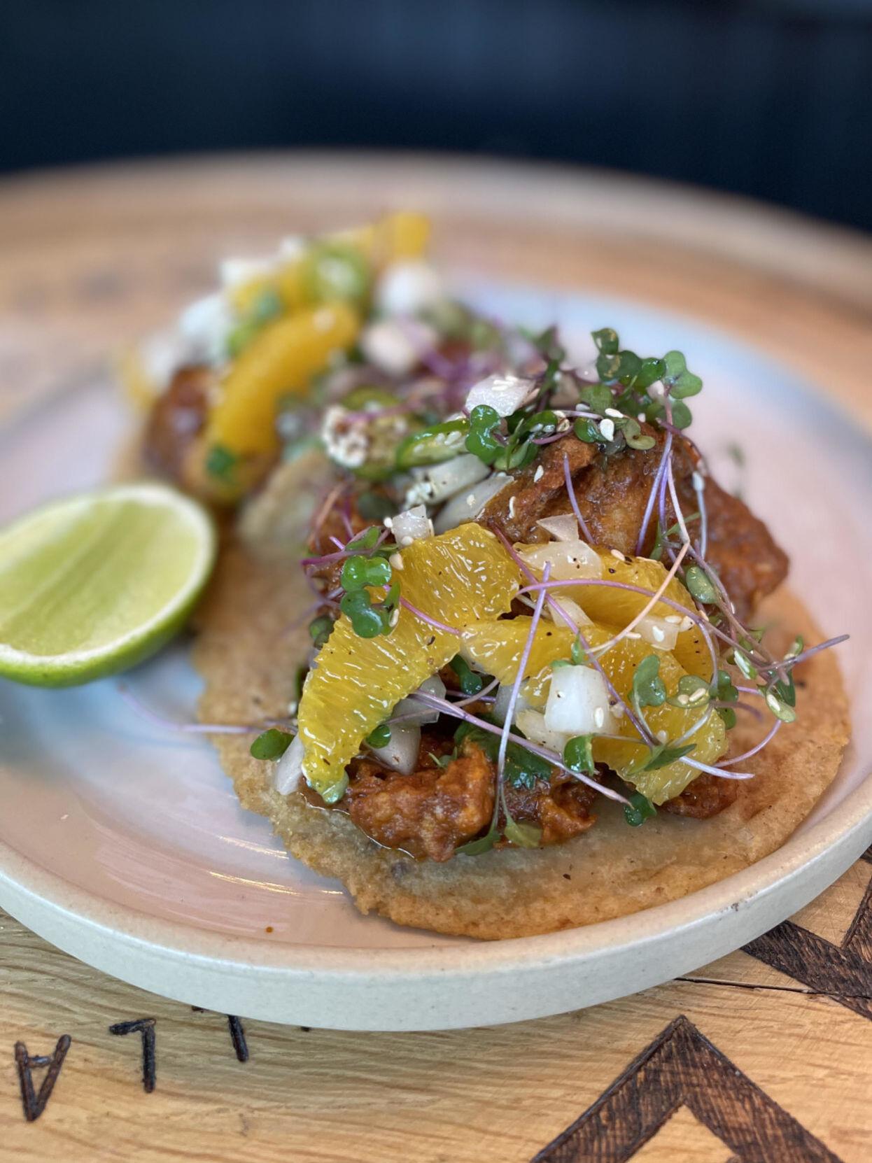 Cauliflower relleno tacos