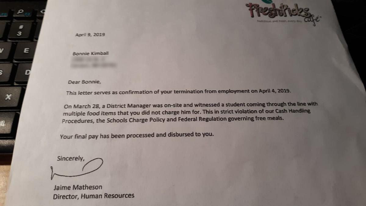 Kimball termination letter