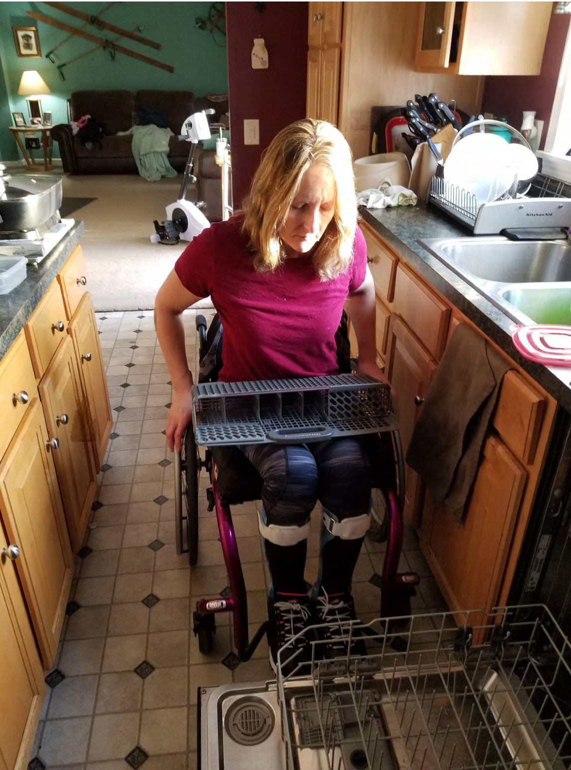 Carolyn Daigle after paralysis for A1