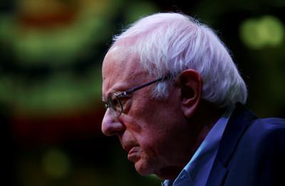 Democratic U.S. presidential candidate Senator Bernie Sanders addresses town hall at Simpson College in Indianola, Iowa