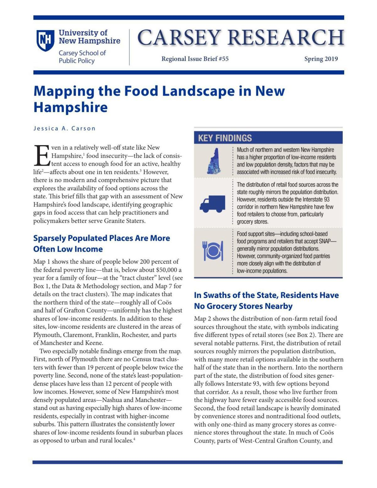 Mapping the Food Landscape in New Hampshire