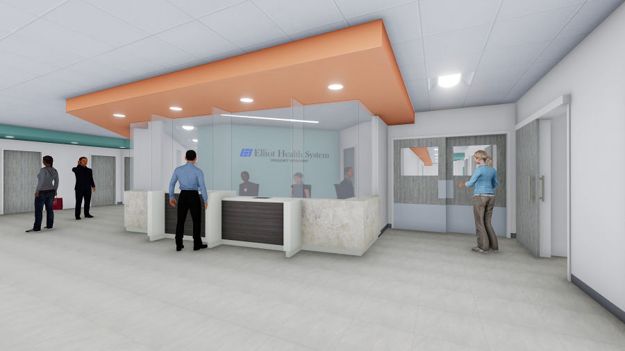 Rendering of interior of Elliot's emergency department