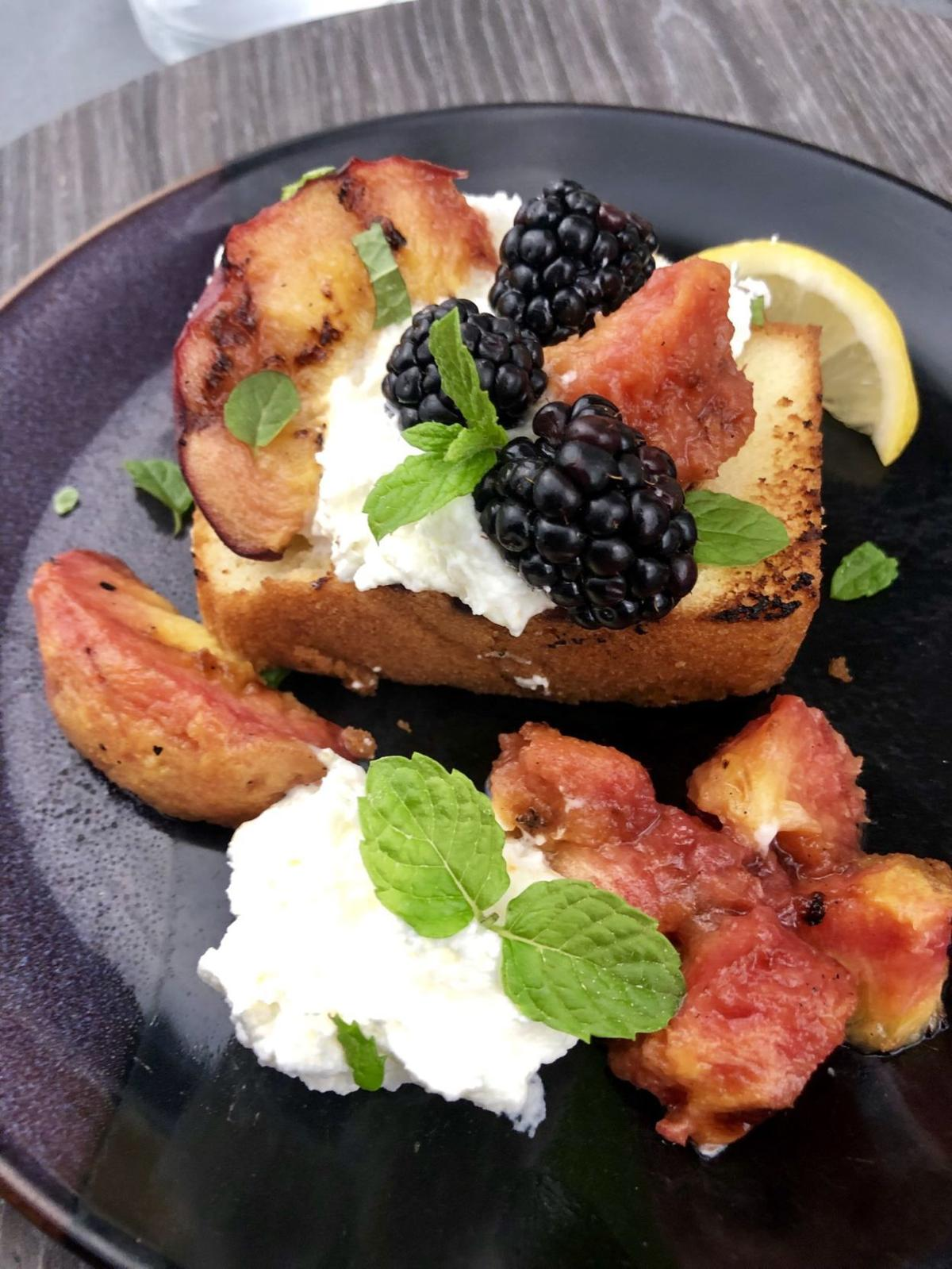 Grilled Pound Cake with Summer Fruit