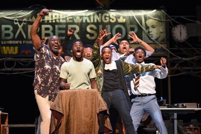 Ensemble cast of 'Barber Shop Chronicles'