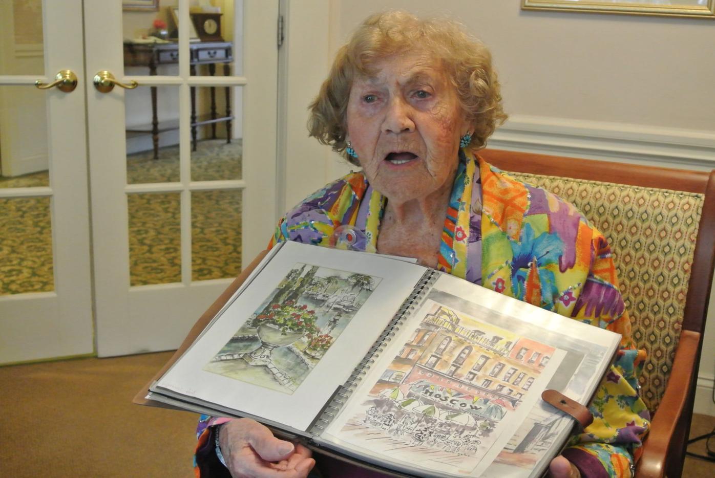 Holocaust survivor and artist Ruth Gellis