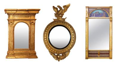 Exhibit of mirrors at Milford's Antique Co-op