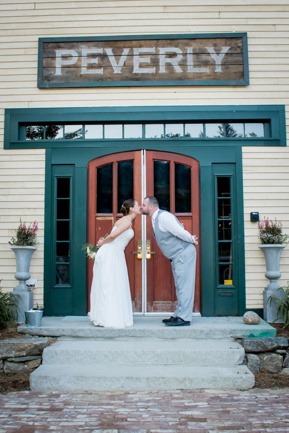 First wedding at the barn