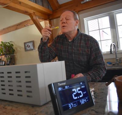 Paul Bemis and his Clean Air Curtain air purifier