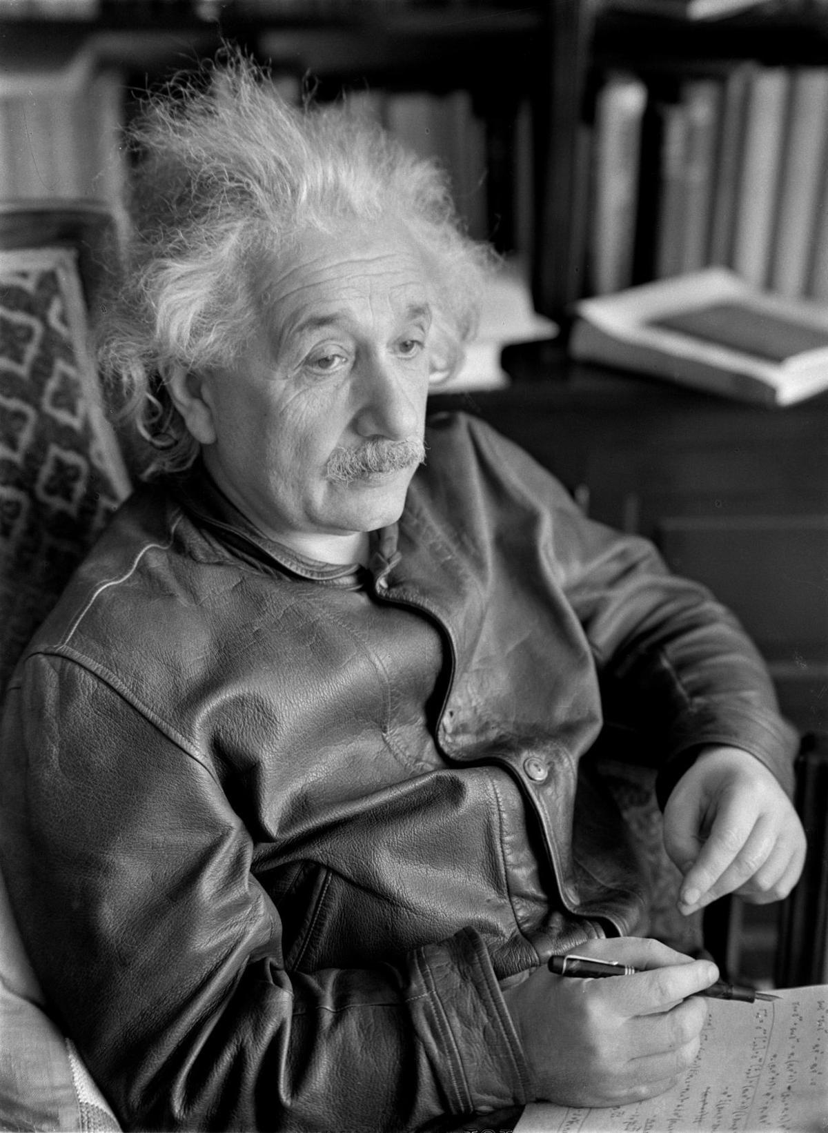 Lotte Jacobi's portrait of Albert Einstein