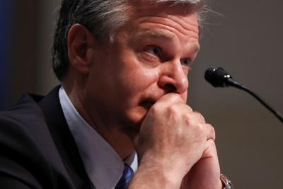 FBI Director Christopher Wray testifies before the House Judiciary Committee on Capitol Hill in Washington