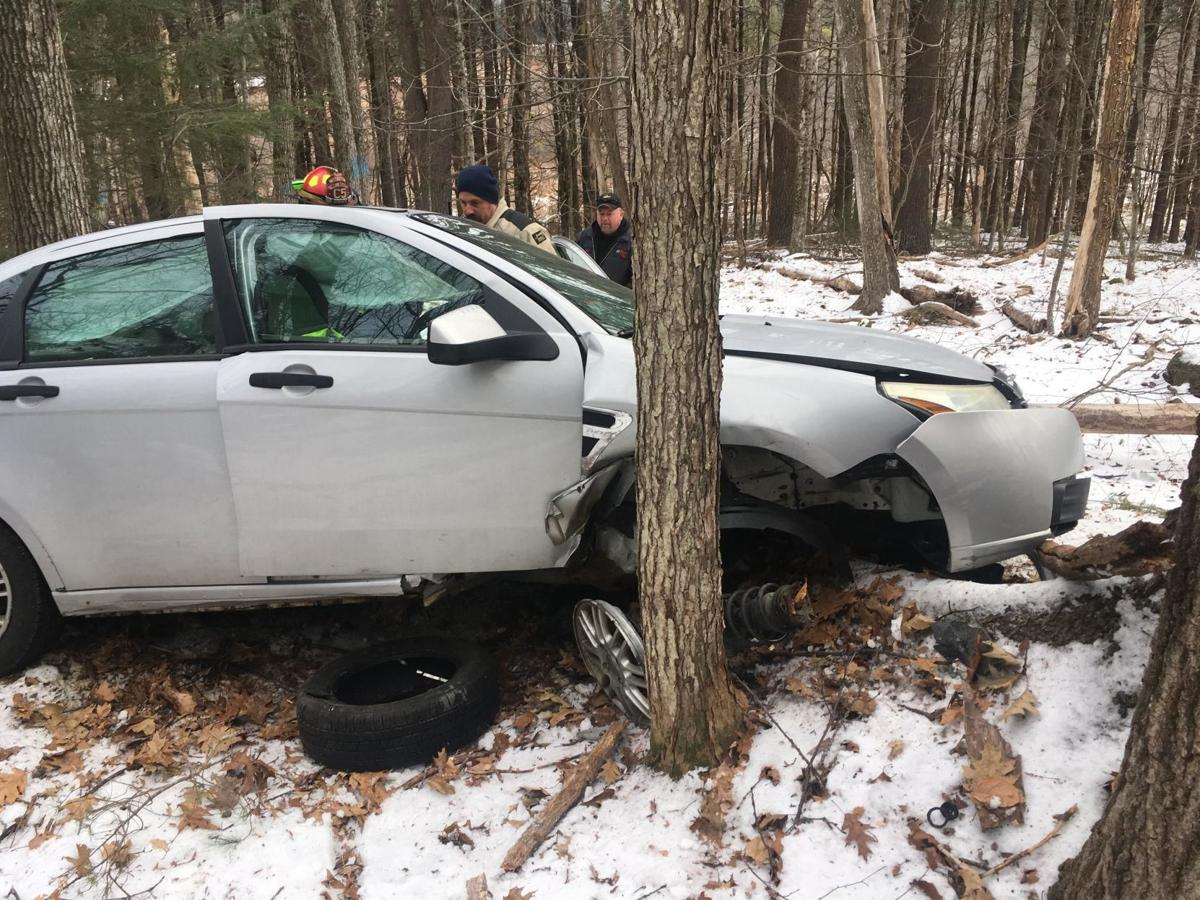 Mass man spent night trapped in car after Jaffrey crash