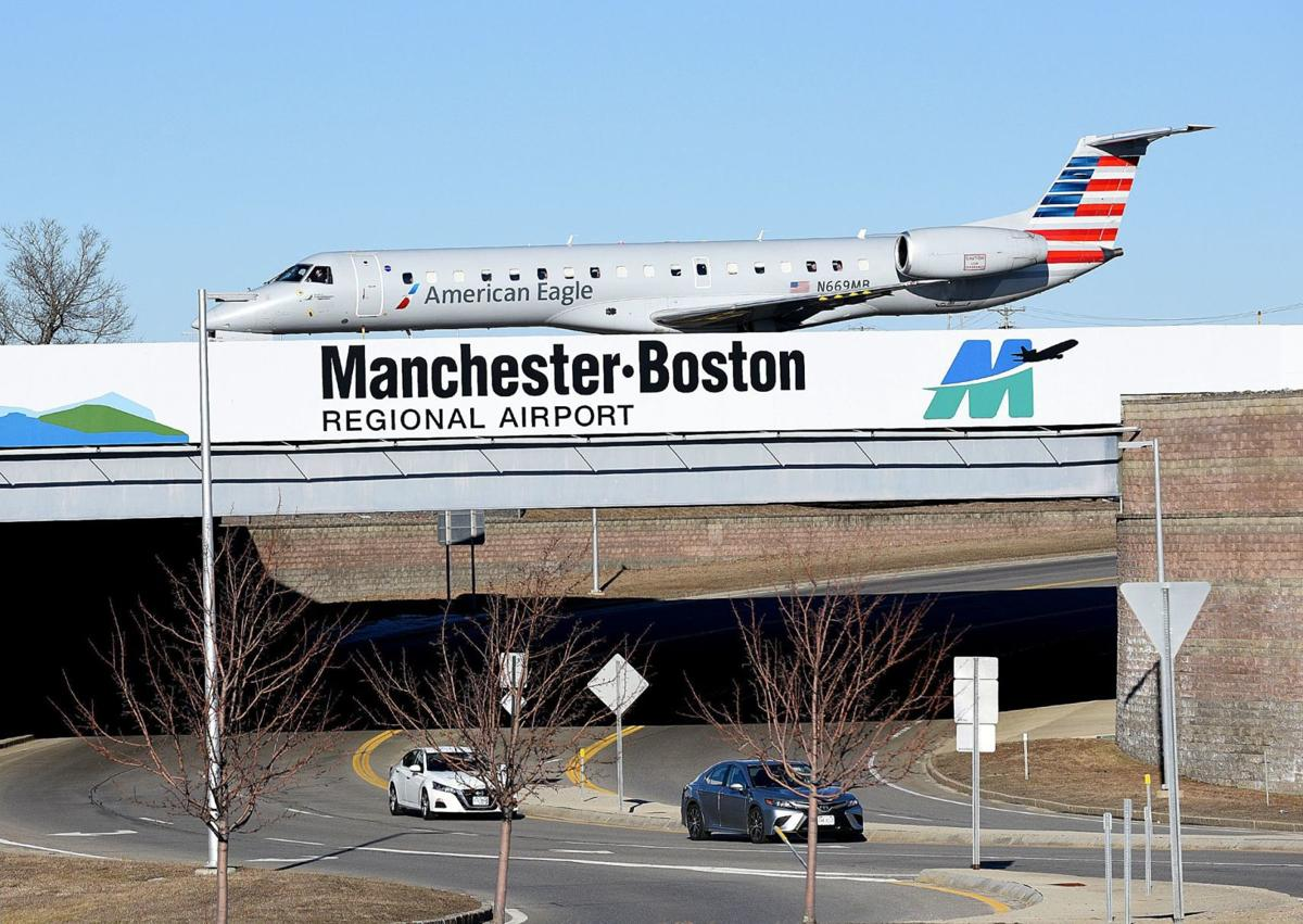Manchester-Boston Regional Airport sign