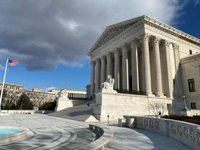 The U.S. Supreme Court building is seen in Washington