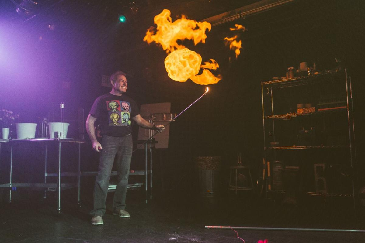 Expects some explosions and flames at David Maiullo's physics show