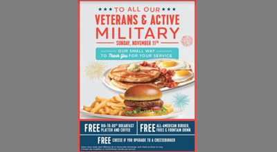 Veterans Day at Friendly's