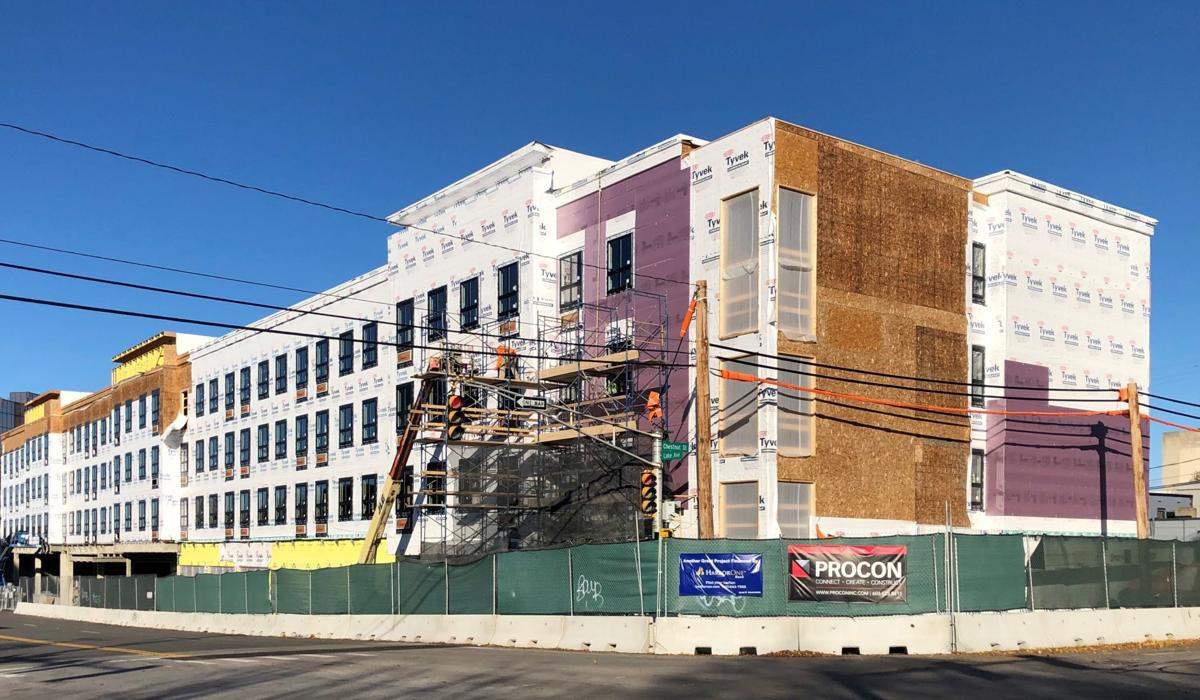 New hotel rises in downtown Manchester