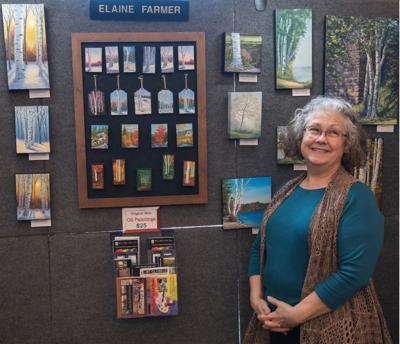 Elaine Farmer crafts paintings of all sizes