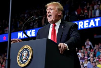 U.S. President Donald Trump speaks during a Make America Great Again rally