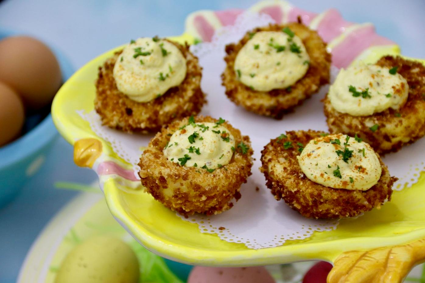 Panko Fried Deviled Eggs