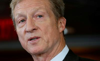 Steyer says he's had a ban on using private planes
