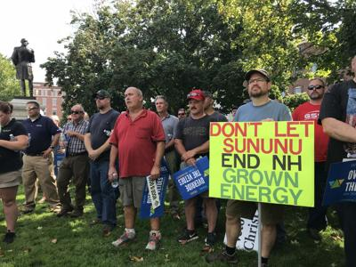 Green energy advocates rally at State House to override Sununu veto