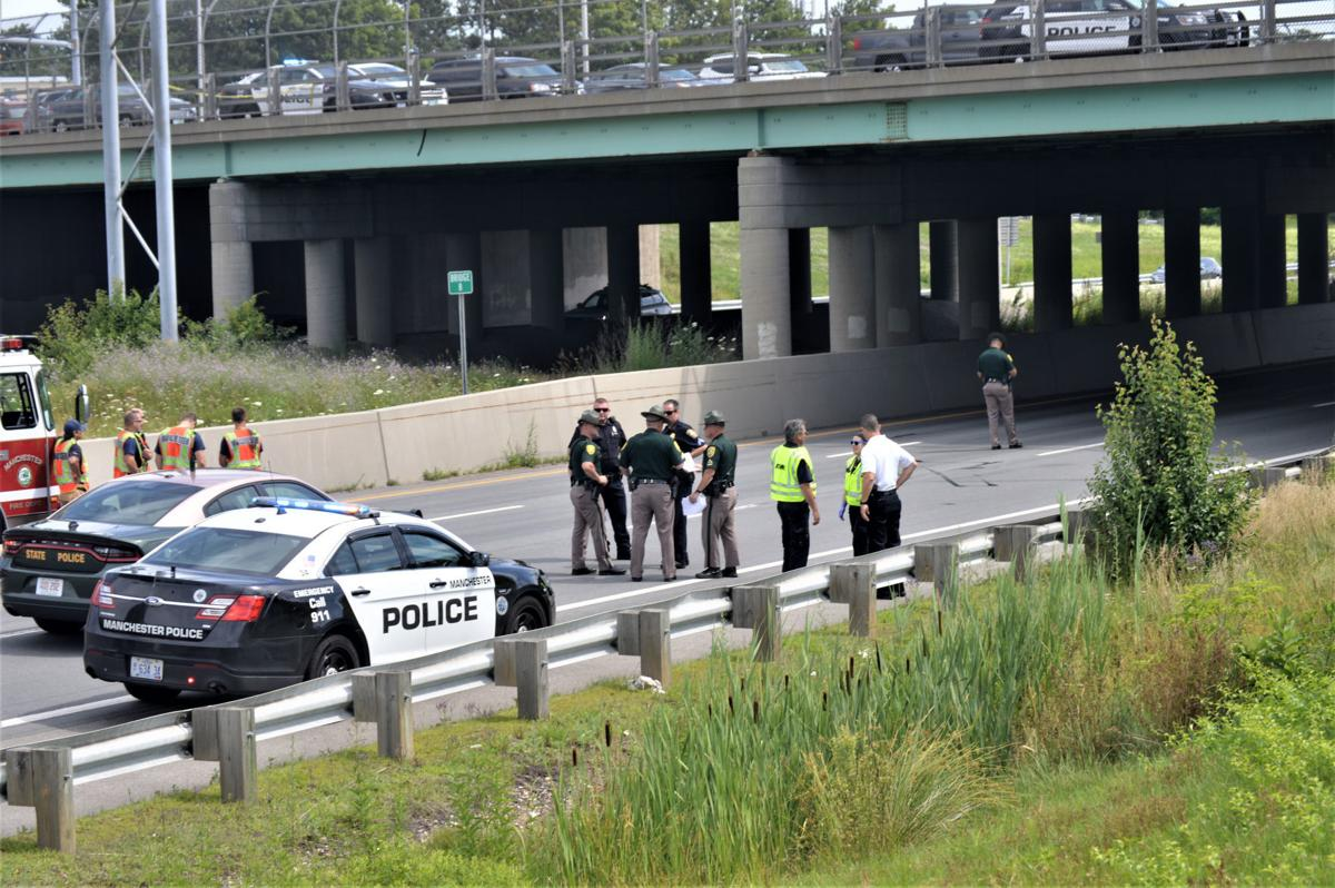 Man jumps from overpass to I-293 below, east lanes closed at South Willow Street
