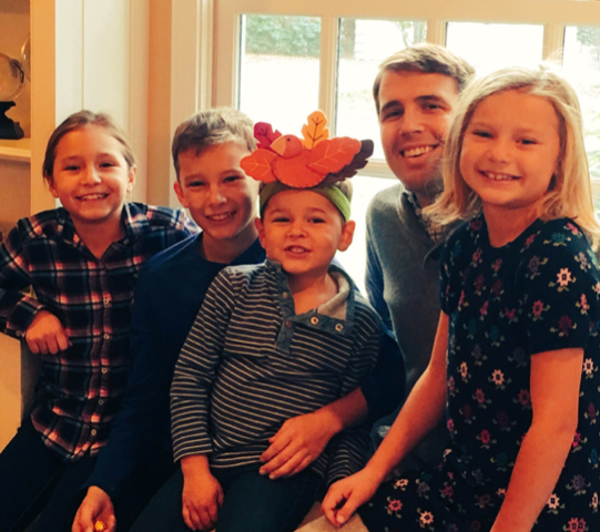 Charlie Zink with siblings and uncle