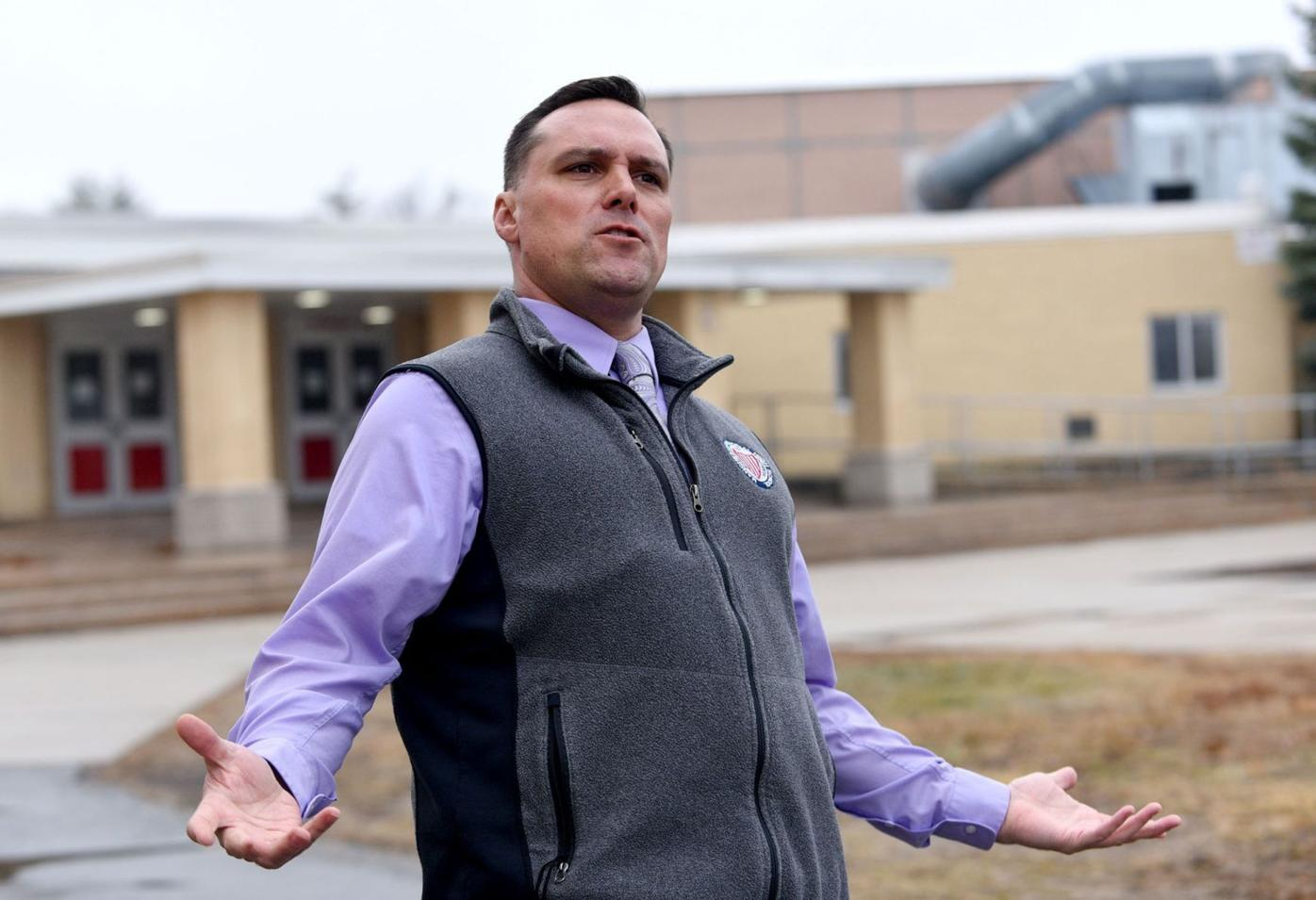 Ray Connolly outside Memorial High School