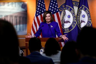 Pelosi holds weekly news conference on Capitol Hill in Washington