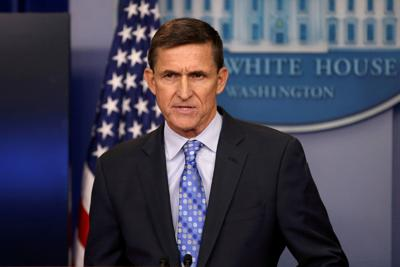 FILE PHOTO: U.S. National Security Adviser General Michael Flynn delivers a statement daily briefing at the White House in Washington