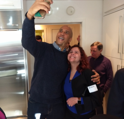 Booker checking the water temp in NH; 2020 decision to come soon