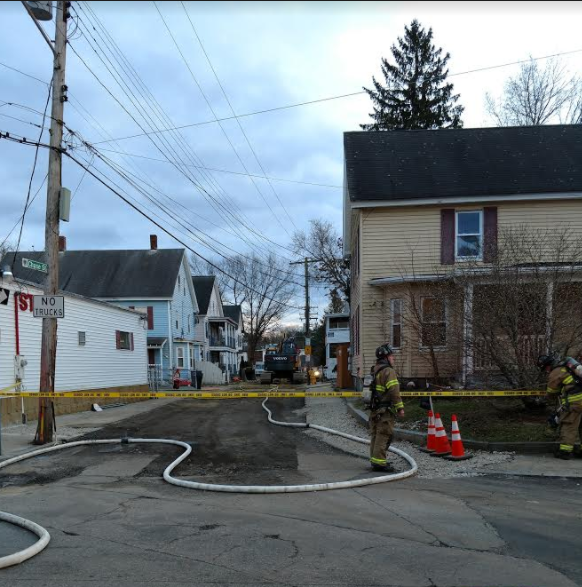 Road work causes Nashua gas leak