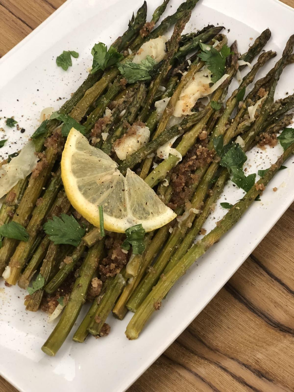 Oven Roasted Asparagus with Parmesan and Lemon