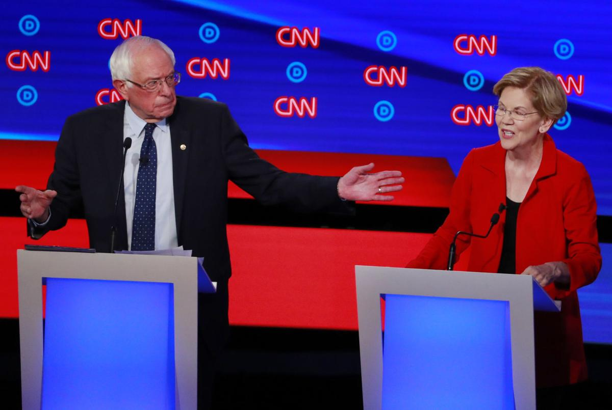 Democrats Are Spotlighting Big >> Rivals Target Progressives Sanders And Warren In Democratic Debate